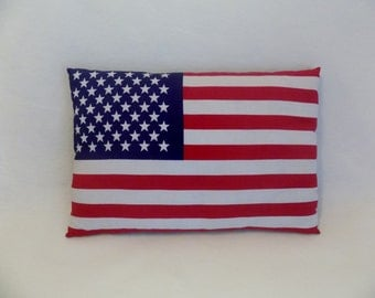 Vintage Patriotic AMERICAN Flag Stars and Stripes Decorative Pillow * United States Flag * Independence * Old Glory
