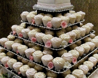 Cupcake Tower; Cupcake Stand; Wedding Cake Stand; Wedding Decorations; Bridal Shower Decorations