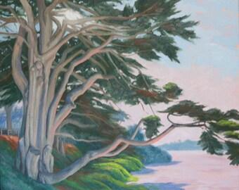 Ceramic Art Tile: Ancient Elegance, Monterey Cypress
