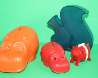 Vintage animal theme savings bank by your choice- by MK Tuote Finland