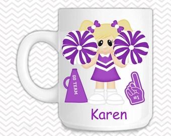 Cheer Kids Mug - Personalized Cheerleader Mug - Customized Mug - Melamine Cup - Personalized Kids cup