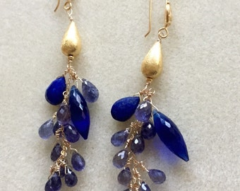 Royal Blues Goddess Earrings