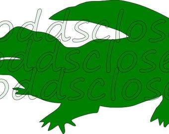 Alligator SVG File Instant Download Child Shirt Design Svg
