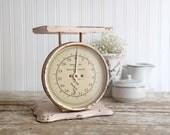Vintage Kitchen Scale, Metal Kitchen Scale, Vintage Pelouze Scale,  Light Pink Scale, Fixer Upper Decor, Farmhouse Kitchen, Country Kitchen