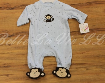 Baby Boy Monkey Bodysuit by Little Me