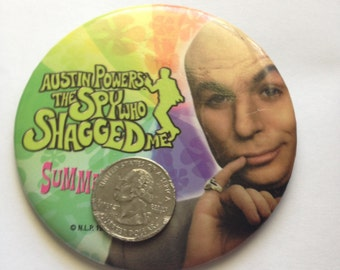 Vintage licensed promotional button movie austin powers