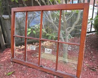 36 x 27 Vintage Window sash old  8 pane  from 1951