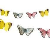 bunting banner ~ butterflies ~ White wedding ~ whimsical bridal shower ~ girls first birthday ~ garden tea party ~ summer BBQ ~ Butterfly
