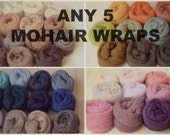 Any 5 Knit Mohair wraps Newborn Photography prop bundle - layer, blanket, swaddle, wrap, knot or just add color - choose from 49 colors