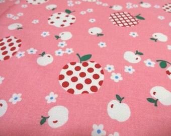 Japanese Fabric YUWA Candy Apple Pink Fat Quarter