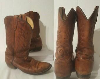 1960s Vintage Men's Cowboy Boots Size 9