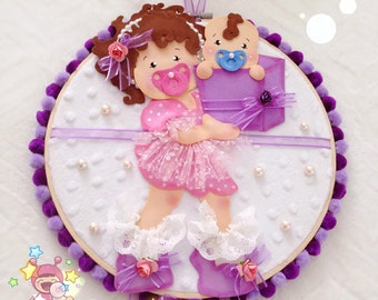 Welcome Baby Boy Decorative Hoop