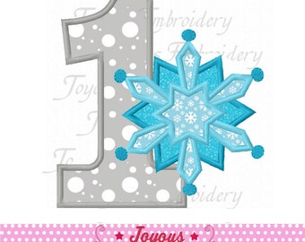Instant Download Snowflake Number 1 Applique Machine Embroidery Design NO:1816