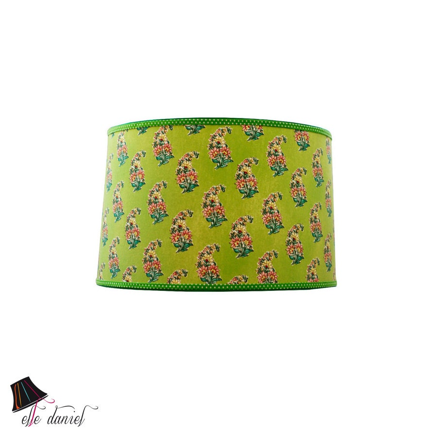 Large green drum lamp shade drum lamp shades large lamp for Wide drum lamp shade