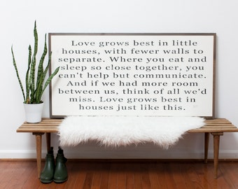 Love Grows Best (Horizontal) 4x2- READY TO SHIP