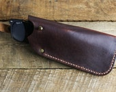 Leather Glasses Case // Horween Leather Color 8 Chromexcel + Antique Brass Hardware // Personlized Gift with Custom Monogram
