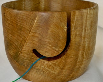 923 Yarn bowl, made from Figured Spalted Maple
