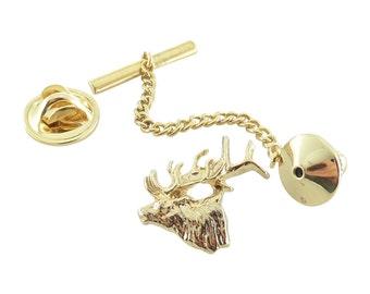 Gold ~ Elk ~ Tie Tack ~ MG001TT