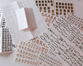 Grab Bag of Scrapbook Stickers Letters & Numbers Planner, Journal, Papercrafting, Kids Crafts, Card Making Embellishments