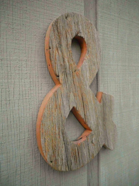 Rustic Barn Wood Letter Ampersand Wall Decor Unfinished