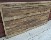 "Barnwood Wall Art (48"" x 26"") - Rustic Wall Decor - Wood Wall Art - Reclaimed Wood Art"