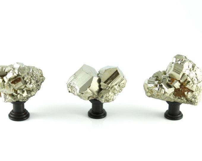 Pyrite Drawer Pull--Gold Pyrite Knob--MEDIUM--Knob for Desk