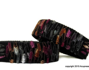 Acupressure Anti Nausea Bracelets for motion sickness, anxiety, treatment related nausea. Magenta Magic
