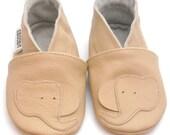 soft sole baby shoes leather infant children elephant beige 18-24m ebooba  7-4