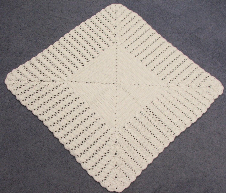 Crochet Pattern Princess Dress Blanket : Princess Charlottes Christening Crochet Blanket