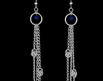 Decent Blue Earrings | silverplated