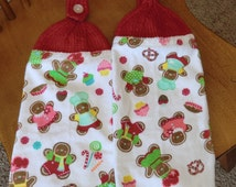 Christmas - Gingerbread Boy & Girl  Knit Top Kitchen Towels