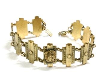 Art Deco Tri Kappa Gold Bracelet