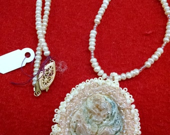 Hand Stitched Shell Necklace