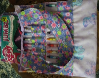 My Little Pony crayon and coloring book bag