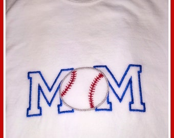 Baseball mom embroidered shirt