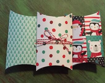 Polar Bear Pillow Boxes - Set of 3 - Christmas Gift Boxes