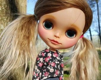 Custom Blythe Doll EBL Suri Alpaca Licca body