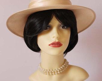 Authentic vintage formal hat, races hat, wedding, bridal hat, ascot hat