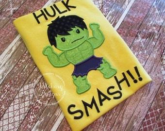 Super Hero Custom embroidered Hulk Inspired Vacation Shirt 708