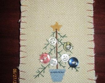 Primitive Christmas Tree Christmas Ornament