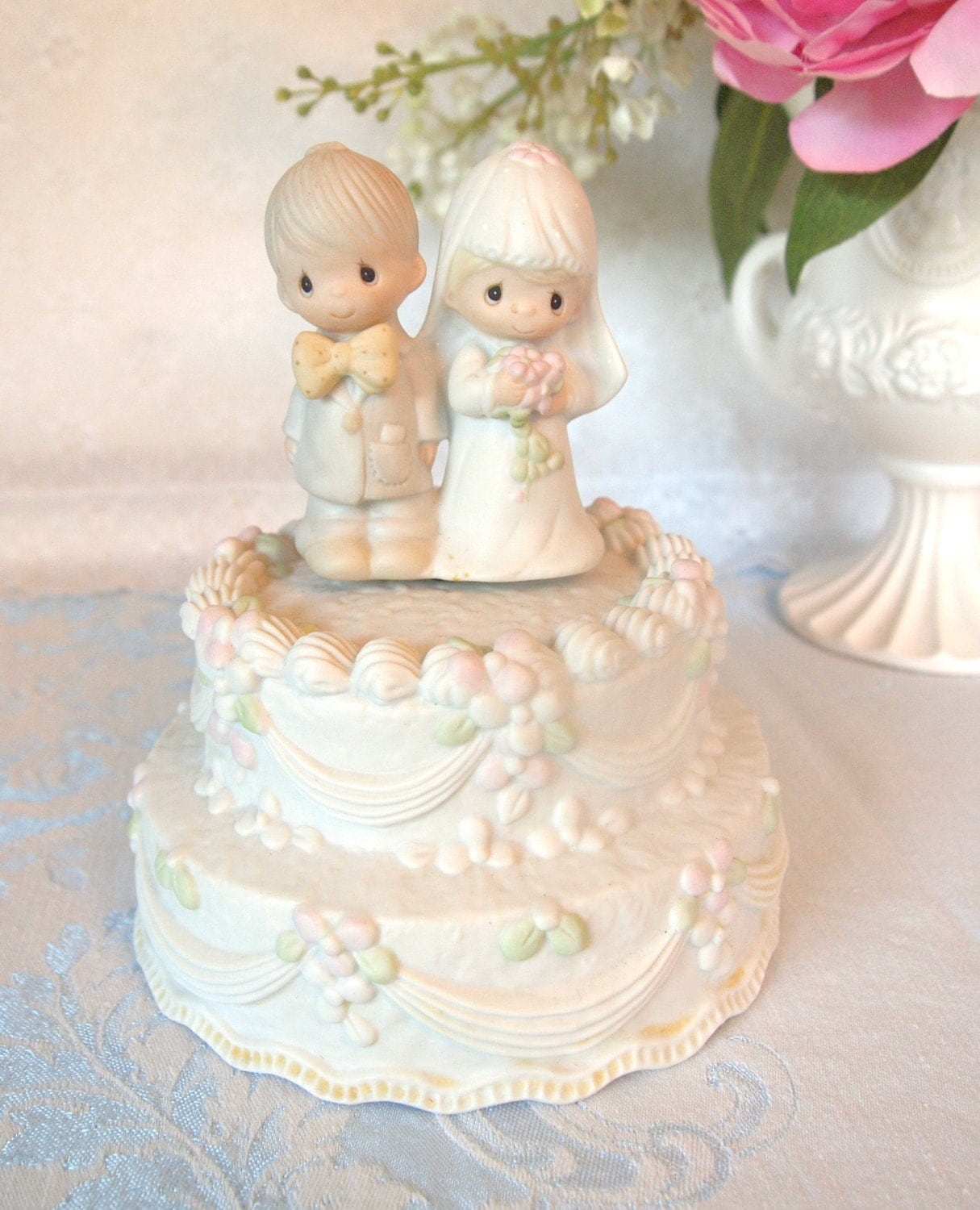 precious moment wedding cake topper vintage precious moments wedding cake topper figurine 18717
