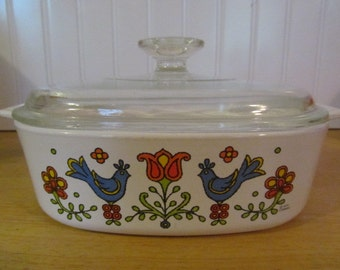 Country Festival Corning Ware Casserole Lid 2 quart