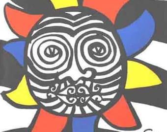 """Calder """"DM37156"""" Original Lithograph, Alexander Calder"""