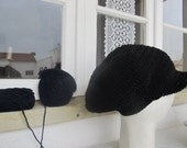 Dread Tam RESERVED black lined with brim Size M