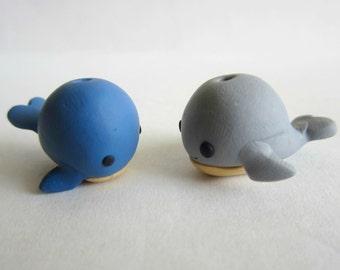 Miniature Whale Clay Sculpture