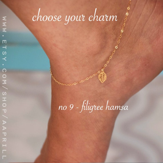 delicate gold detail product chain bead satellite bracelet simple anklet dainty