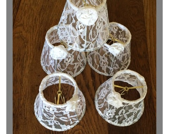 Custom Chandelier shades set of 5