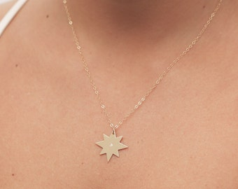 Gold Star Necklace Dainty Layered Necklace Delicate Gold Filled or Silver Necklace Everyday Jewelry Bridesmaid Gift.