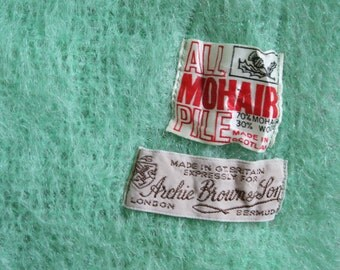 Vintage 100% Mohair Shawl