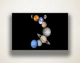Artistic Planets Canvas Art Print, Space Wall Art, Planets Canvas Print, Artistic Wall Art, Canvas Art, Canvas Print, Home Art, Wall Art